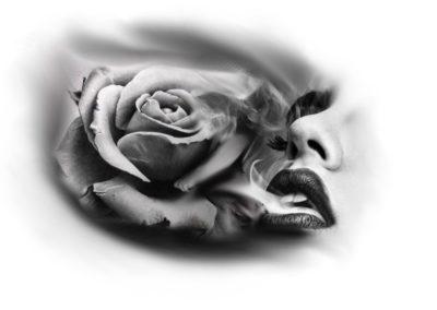 roza z ustami